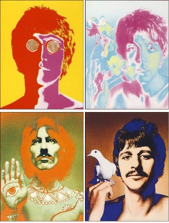 BEATLES: 4er Poster-Set THE RICHARD AVEDON SET