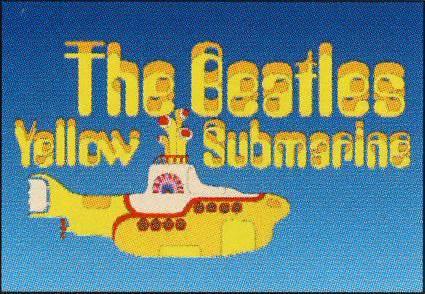 BEATLES Postkarte YELLOW SUBMARINE LOGO 1999