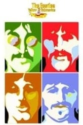 BEATLES Postkarte YS Psychedlic Beatles Portraits