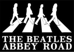 BEATLES Postkarte THE BEATLES SILHOUETTE ABBEY ROAD