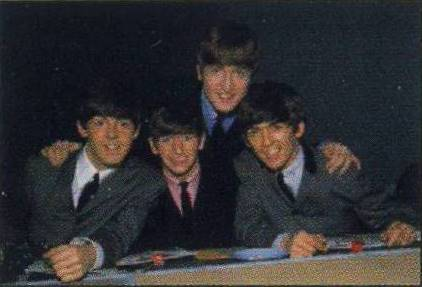 BEATLES Postkarte THE BEATLES IN JUKE BOX JURY DEC. 7, 1963