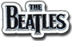 "Metall-Pin LETTERING ""THE BEATLES"" BLACK ON WHITE"