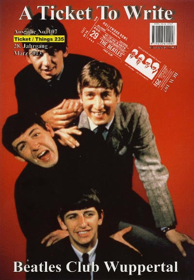 BEATLES: Fan-Magazin A TICKET TO WRITE 107
