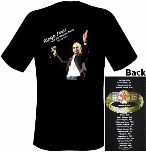 TOUR T-SHIRT RINGO AND HIS ALL STARR BAND TOUR 2006