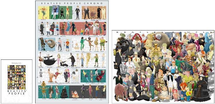 WOLFGANG HÜLK: Buch (inkl. 2 Poster) BEATLES' PEOPLE