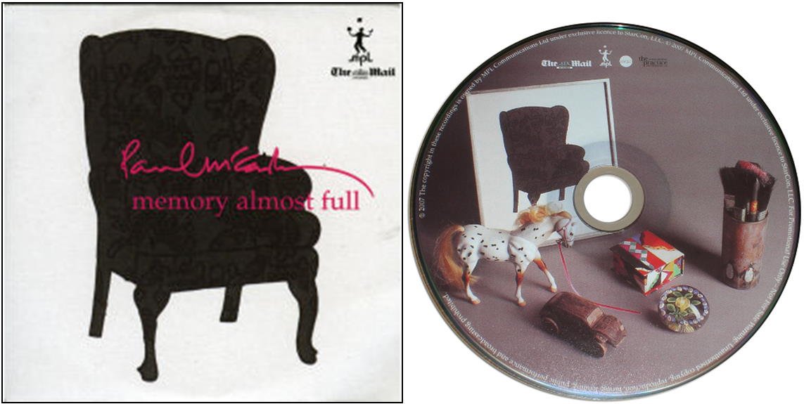 "PAUL McCARTNEY: CD MEMORY ALMOST FULL (""Mail on Sunday"" release)"