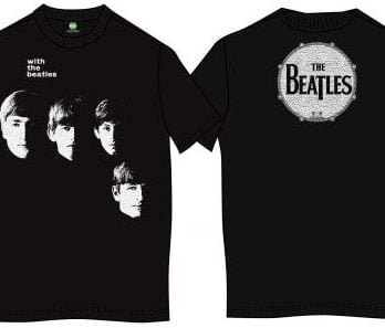 T-Shirt WITH THE BEATLES & BASS DRUM ON BACK