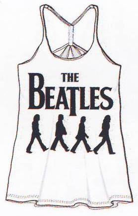 Girlie-Shirt LETTERING BEATLES & ABBEY ROAD SILHOUETTES