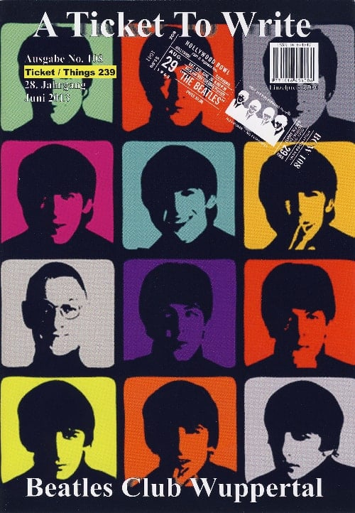 BEATLES: Fan-Magazin A TICKET TO WRITE 108