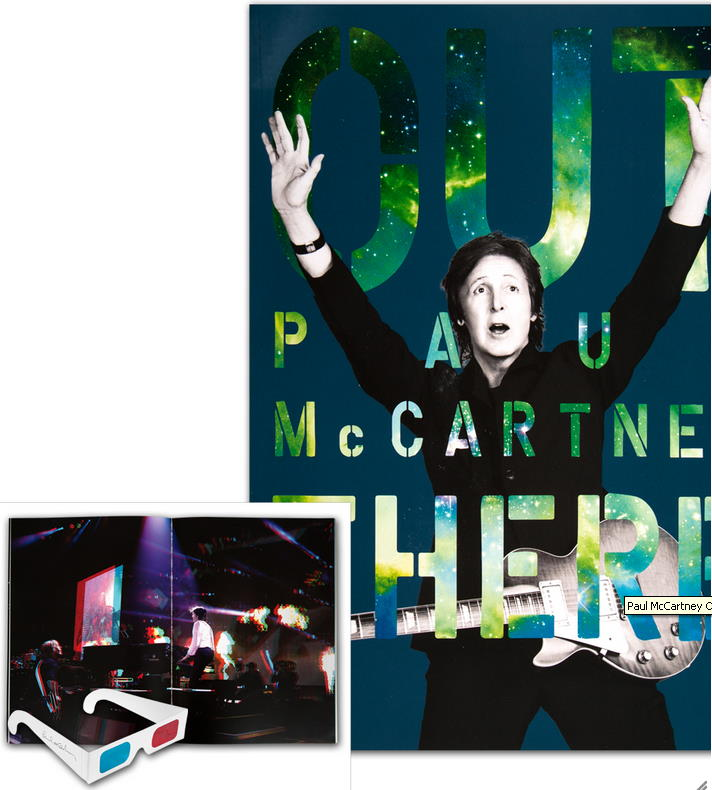 PAUL McCARTNEY-Konzertprogramm OUT THERE