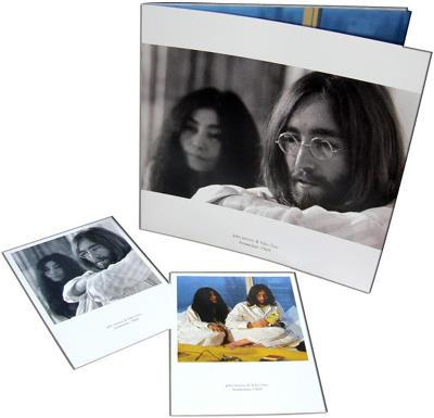 Broschüre & 2 Postkarten JOHN LENNON & YOKO ONO AMSTERDAM 1969
