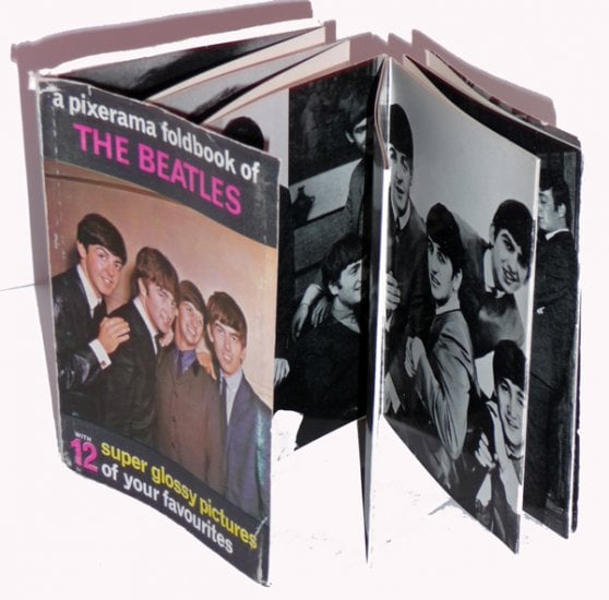kleines BEATLES-Leporello PIXERAMA OF THE BEATLES