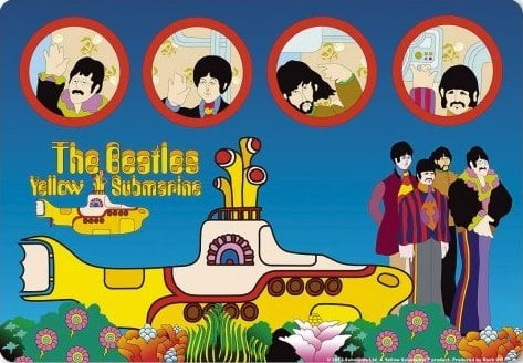 Mousepad YELLOW SUBMARINE PORTHOLES
