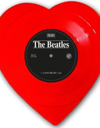 BEATLES: Single-Shape (Heart, red): LOVE ME DO