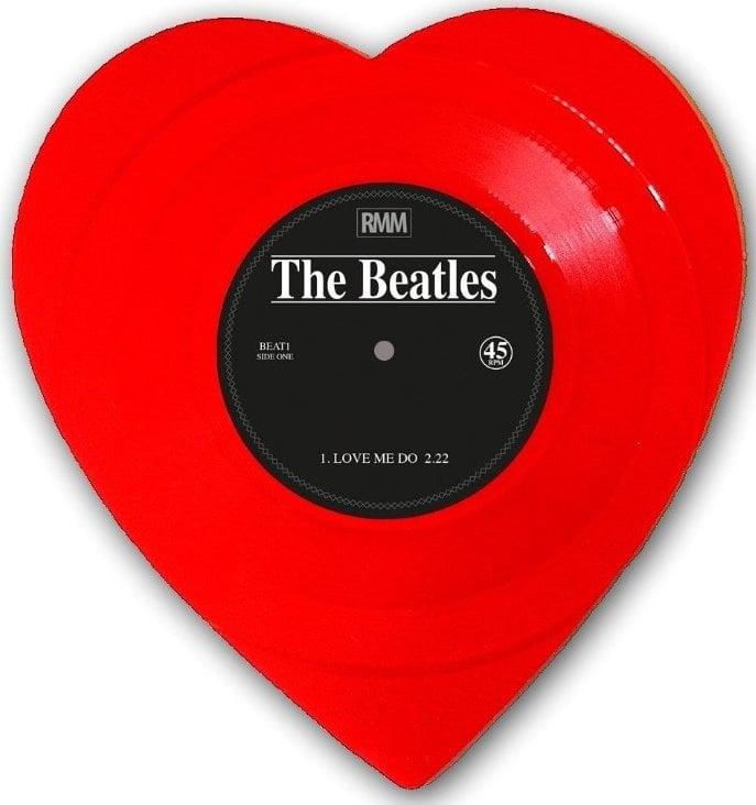 BEATLES: Single-Shape (Heart, red): LOVE ME DO