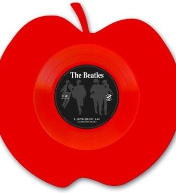 BEATLES: Single-Shape (Apple red): LOVE ME DO