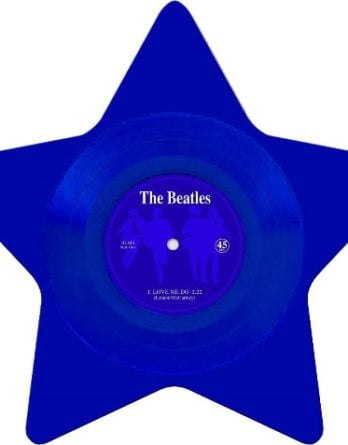 BEATLES: Single-Shape (Star blue): LOVE ME DO