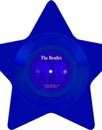 BEATLES: Single-Shape (Star blue): LOVE ME DO