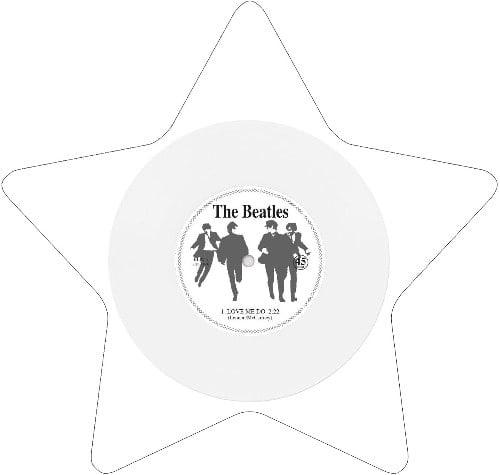 BEATLES: Single-Shape (Star white): LOVE ME DO