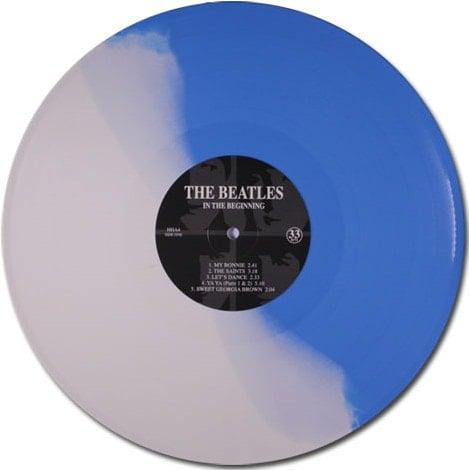 BEATLES-LP (blue white vinyl) IN THE BEGINNING