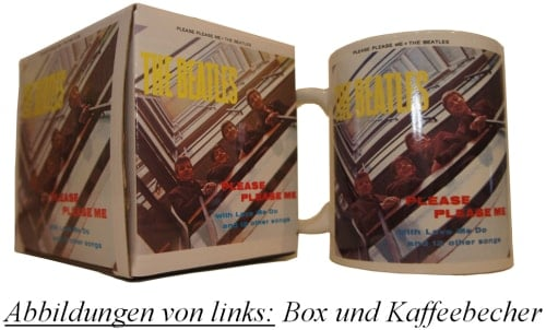 BEATLES-Kaffeebecher PLEASE PLEASE ME ALBUM COVER