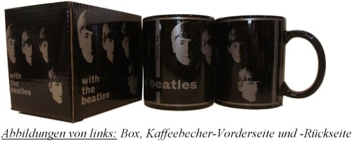 BEATLES-Kaffeebecher WITH THE BEATLES ALBUM COVER