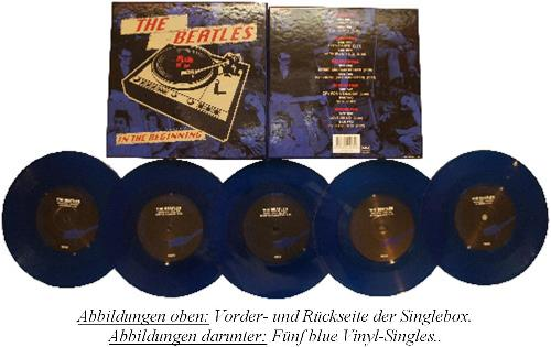 BEATLES: 5er blue vinyl Single-Box IN THE BEGINNUNG