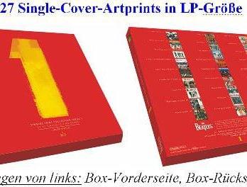 Box mit Artprints THE BEATLES SINGLE PRINT COLLECTION