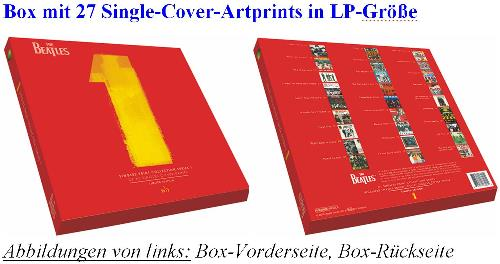 Box mit Artprints THE BEATLES SINGLE PRINT COLLECTION