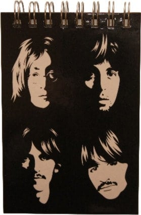 BEATLES: kleiner Notizblock WHITE ALBUM PORTRAITS