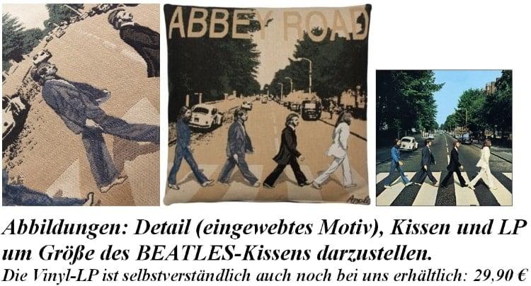großes BEATLES-Kissen ABBEY ROAD