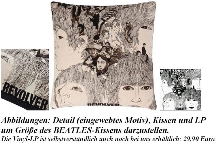 sehr großes BEATLES-Kissen REVOLVER COVER