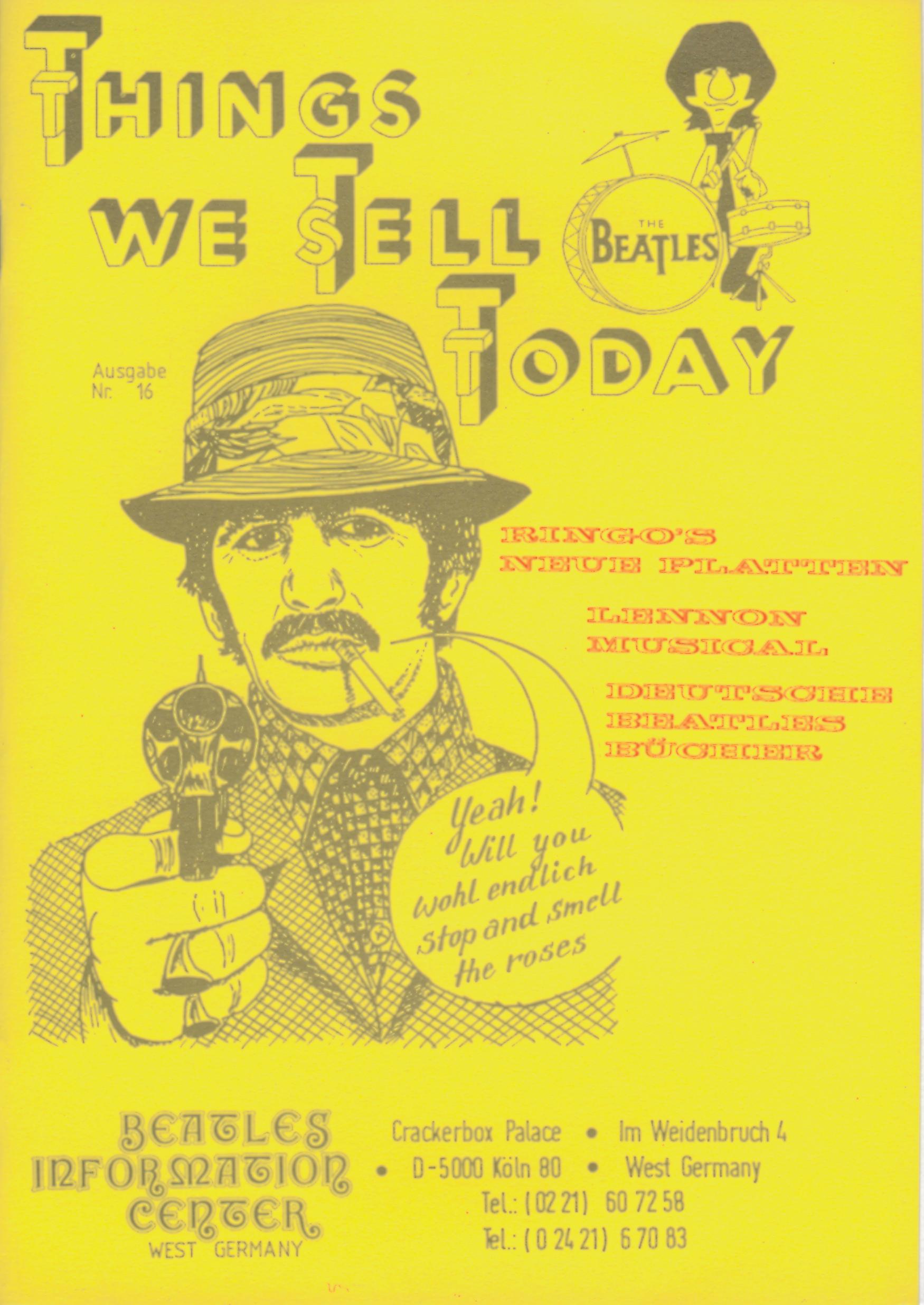 BEATLES: Fan-Magazin THINGS 16