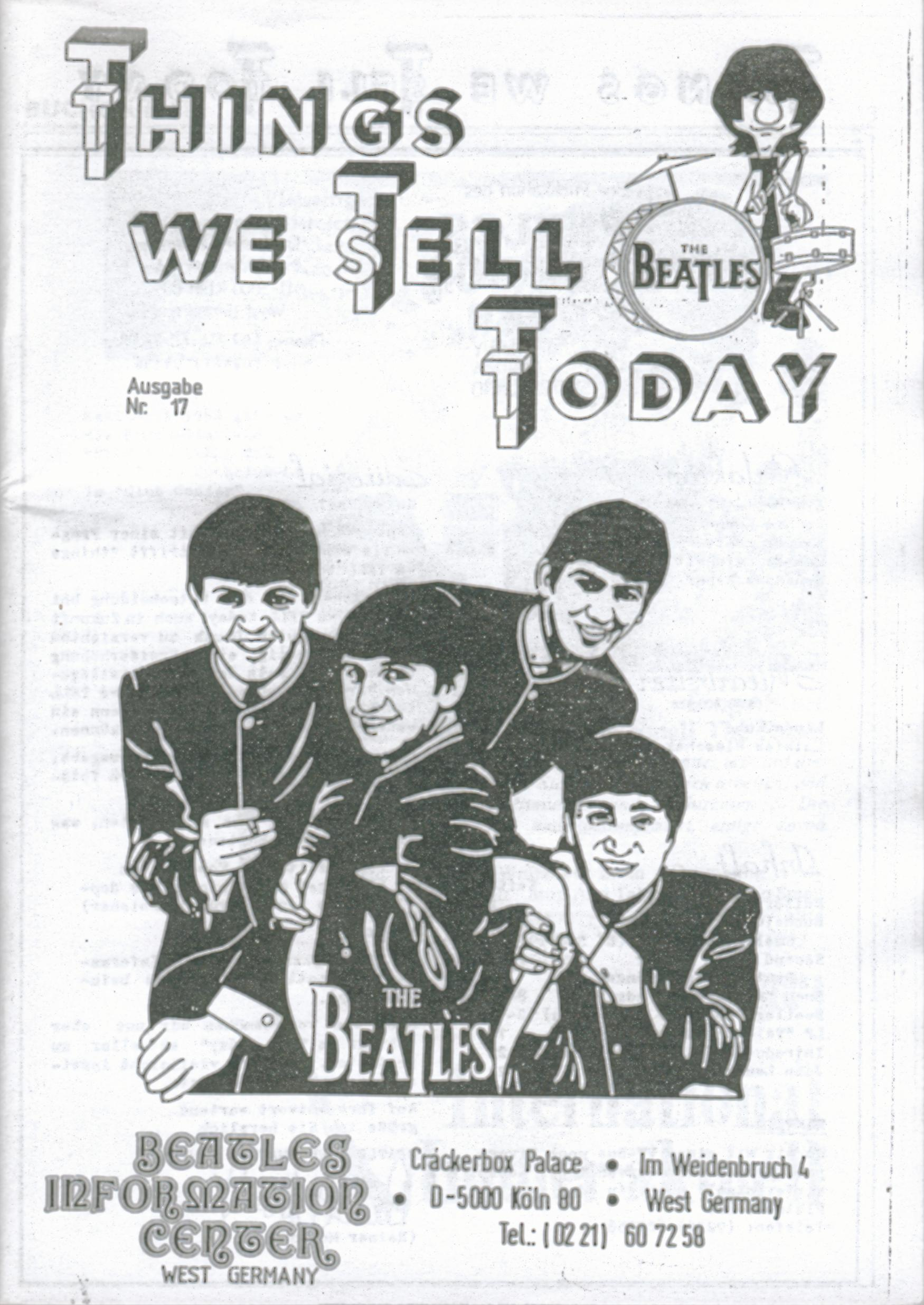 BEATLES: Fan-Magazin THINGS 17