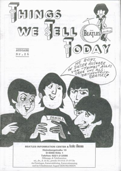 BEATLES: Fan-Magazin THINGS 26