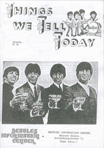 BEATLES: Fan-Magazin THINGS 29