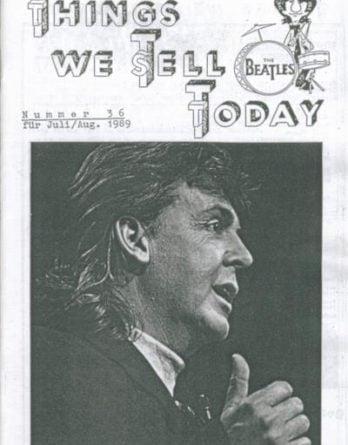 BEATLES: Fan-Magazin THINGS 36