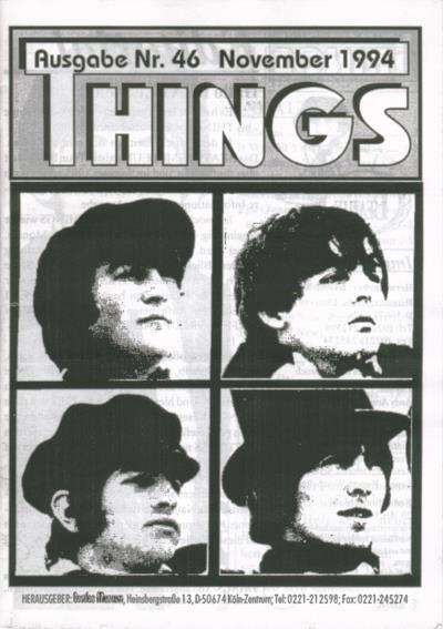 BEATLES: Fan-Magazin THINGS 46