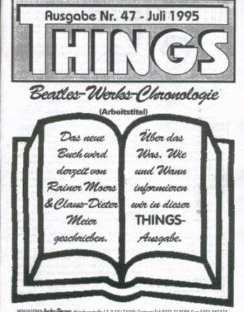 BEATLES: Fan-Magazin THINGS 47