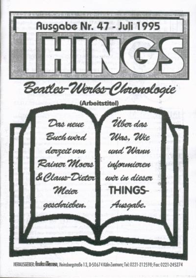 BEATLES: Fan-Magazin THINGS 47