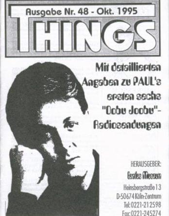 BEATLES: Fan-Magazin THINGS 48