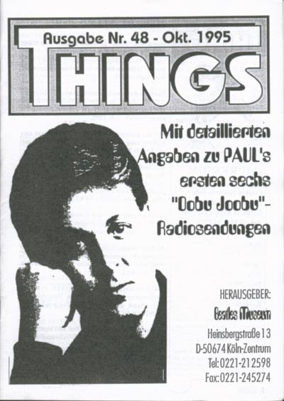 BEATLES: Fan-Magazin THINGS 48