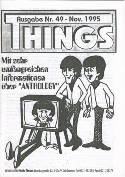 BEATLES: Fan-Magazin THINGS 49