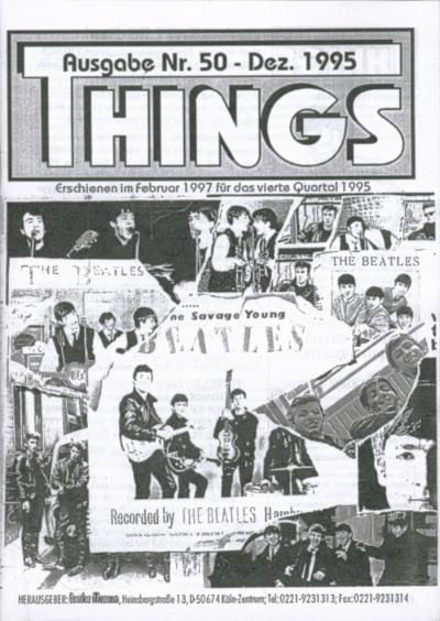 BEATLES: Fan-Magazin THINGS 50