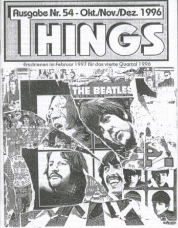 BEATLES: Fan-Magazin THINGS 54