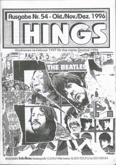 BEATLES: Fan-Magazin THINGS 54