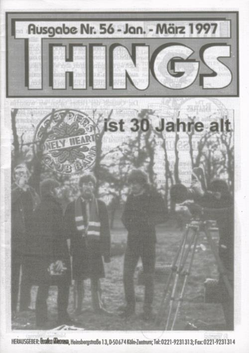 BEATLES: Fan-Magazin THINGS 56