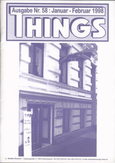 BEATLES: Fan-Magazin THINGS 58