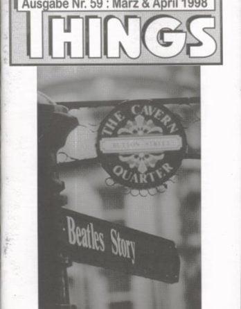 BEATLES: Fan-Magazin THINGS 59