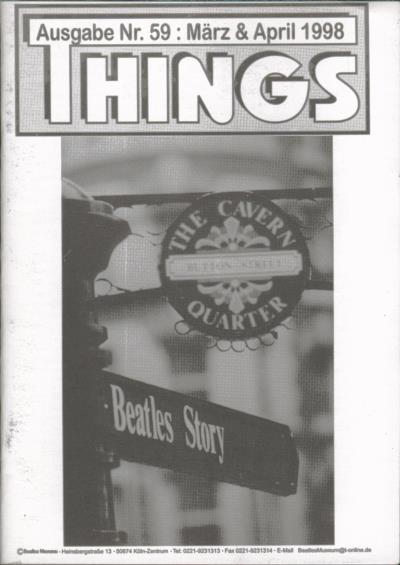 BEATLES: Fan-Magazin THINGS 59